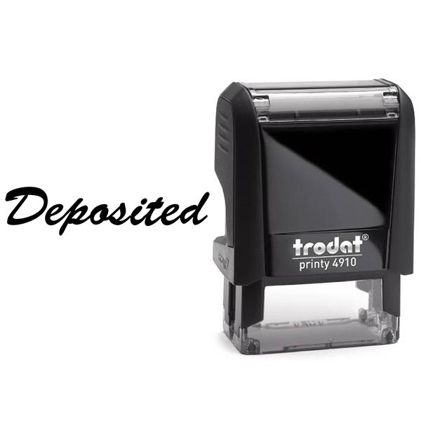 Script Deposited Stamp Body and Design