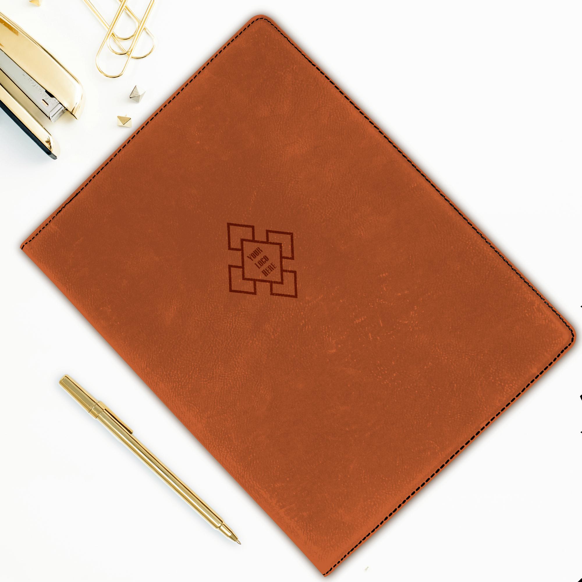 Custom Logo Large Leatherette Folio