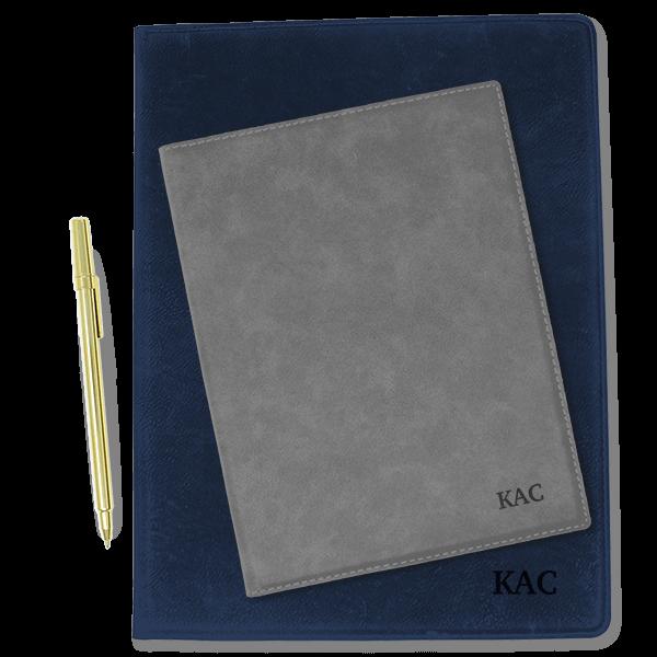 Custom Initials Small Leatherette Folio