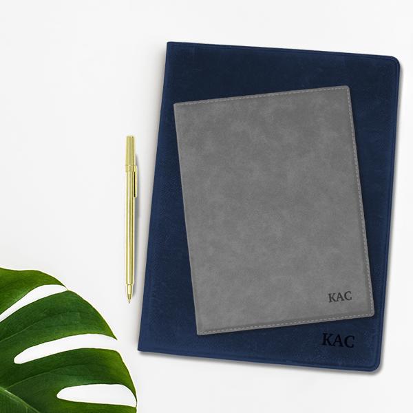 Custom Initials Leatherette Folio lifestyle