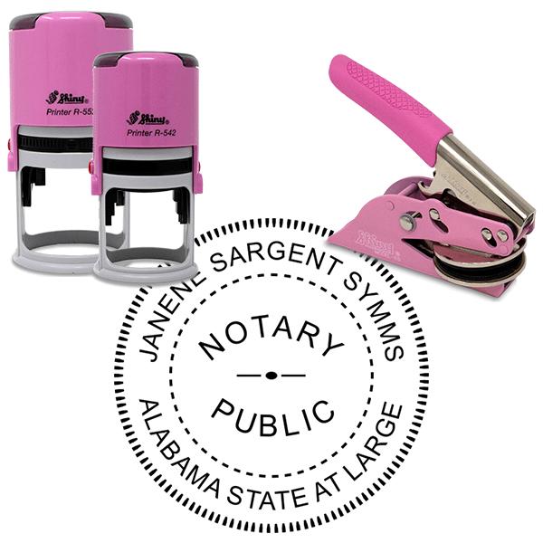 Alabama Notary Pink - Round Design