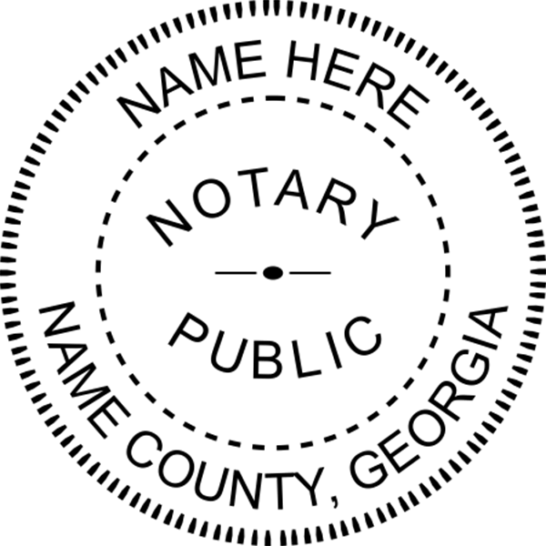 Georgia Notary Pink - Round Design Imprint Example