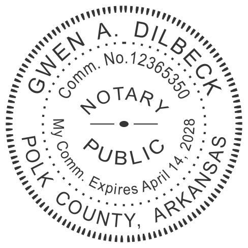 Arkansas Notary Stamp Imprint