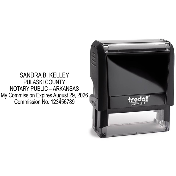 Arkansas Notary Rectangle Stamp Body and Design