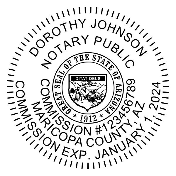 Arizona Notary - Round Stamp