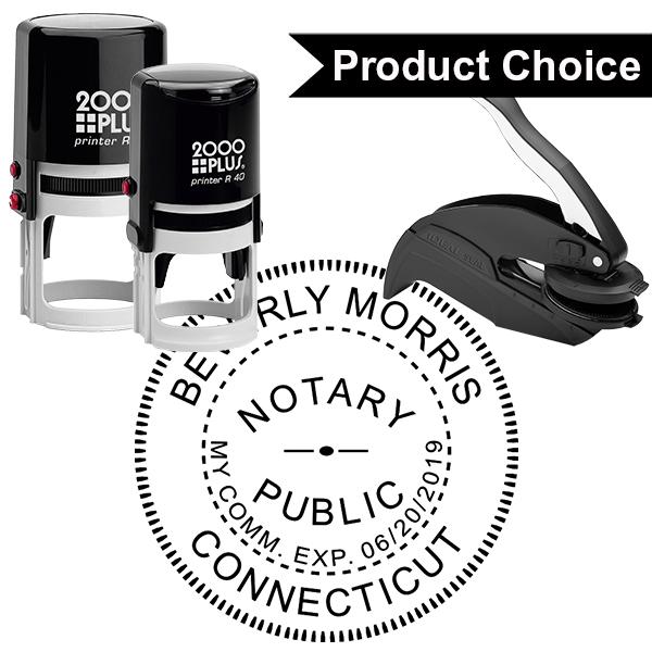 Connecticut Notary Round Design