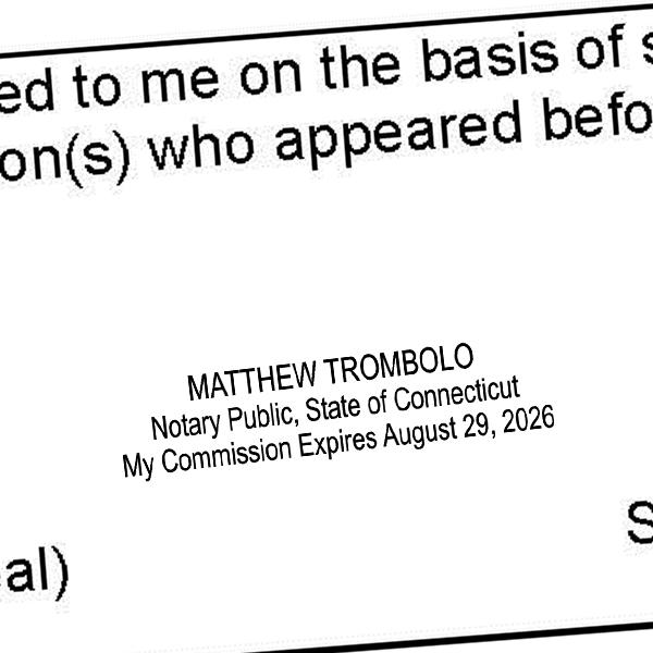 Connecticut Rectangular Notary Seal Imprint