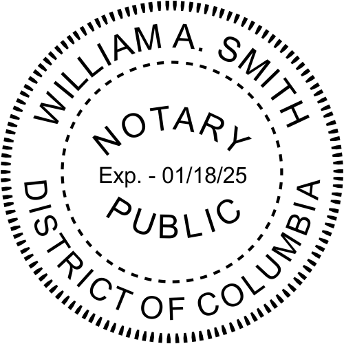 District of Columbia Notary Public Seal