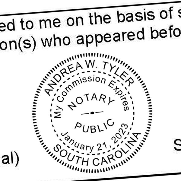 South Carolina Notary Round With Expiration Date