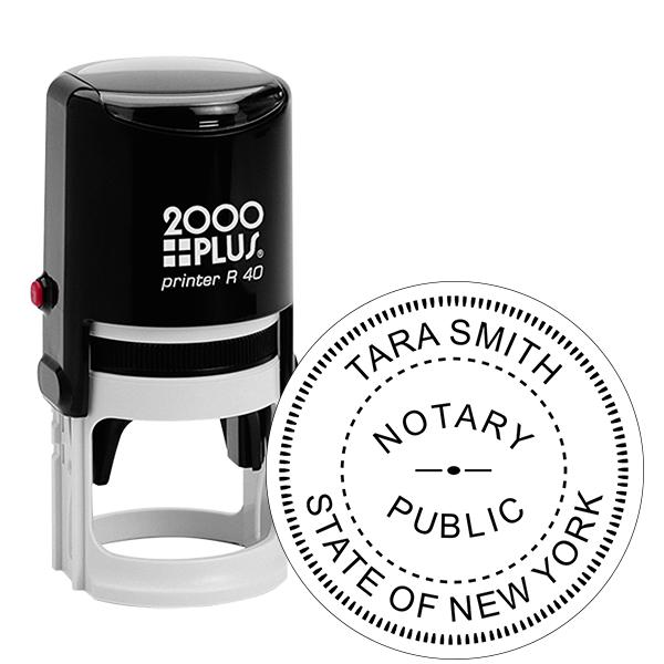 New York Notary Round Stamp