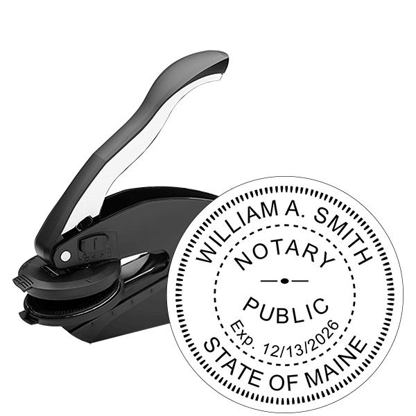 Maine Notary Round Seal Embosser