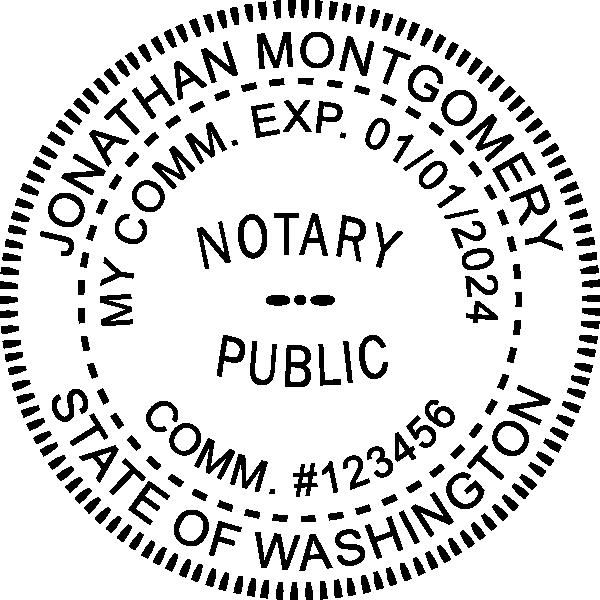 Washington State Notary Round Seal Embosser