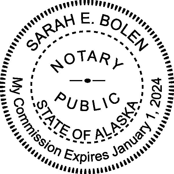 Alaska Notary Pink Seal Embosser - Round