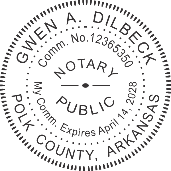 Arkansas Notary Pink Seal Embosser - Round