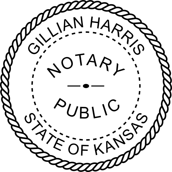 Kansas Notary Pink Seal Embosser - Round