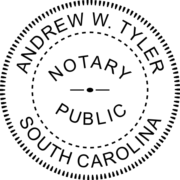 South Carolina Notary Pink Seal Embosser - Round
