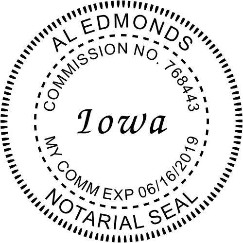 Iowa Notary Round Imprint