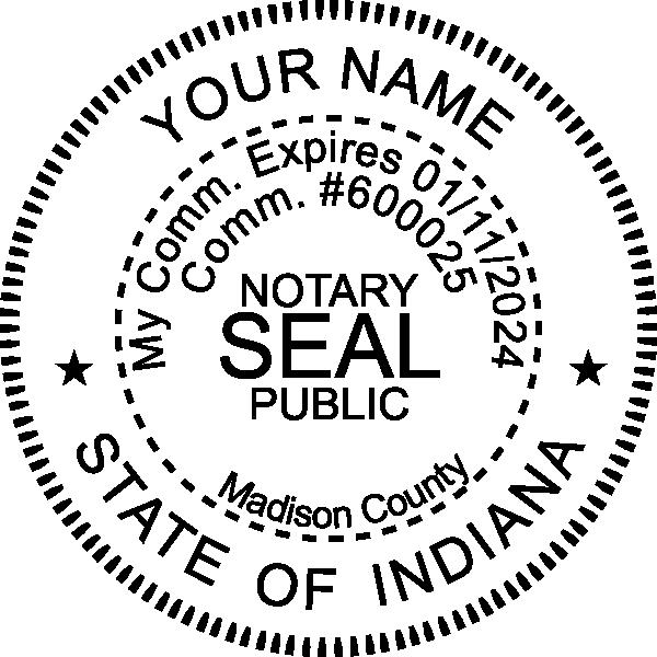 Indiana Notary Round Imprint
