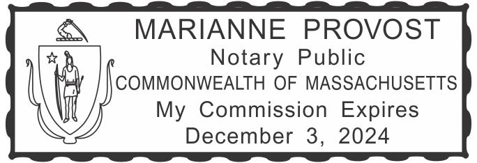 Massachusetts Notary Rectangle Imprint