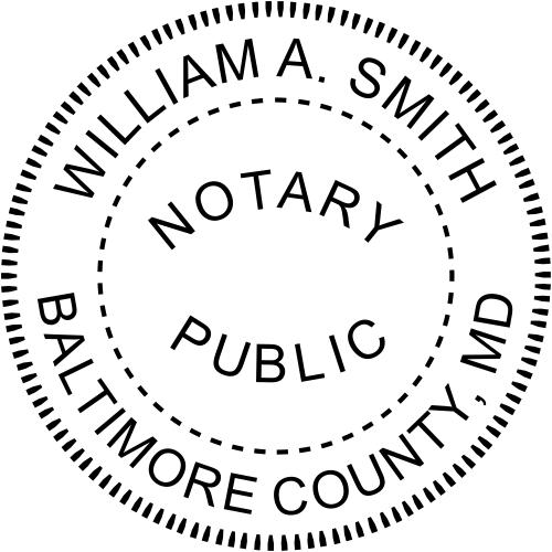 Maryland Notary Round Imprint