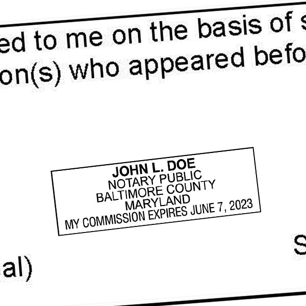 Maryland Notary Rectangle Imprint