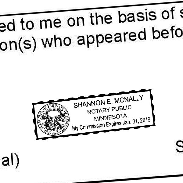 Minnesota Notary Seal Stamp Imprint