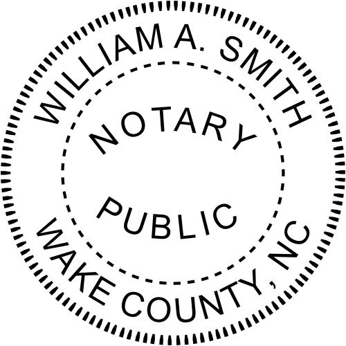 North Carolina Notary Round Seal