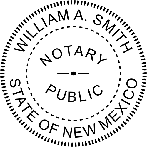 New Mexico Round Notary Seal Embosser Imprint