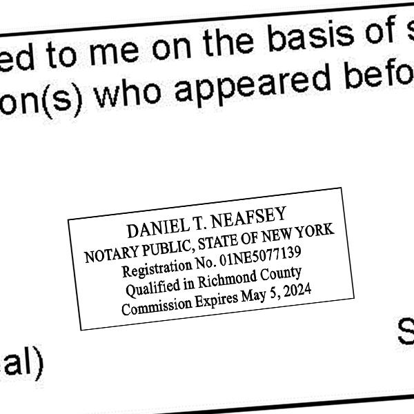 New York Notary Stamp - Rectangle Imprint