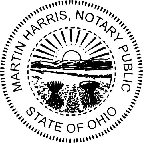 Ohio Notary Round Stamp