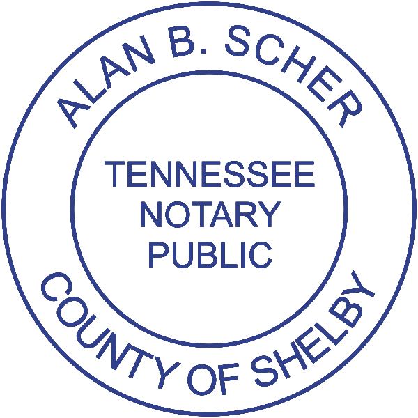Tennessee Notary Round without Date Imprint