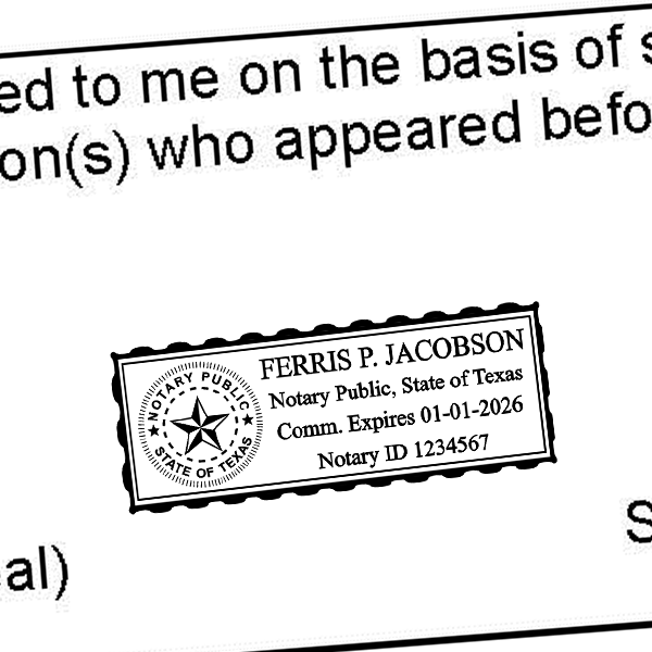 Texas Notary Rectangle Imprint