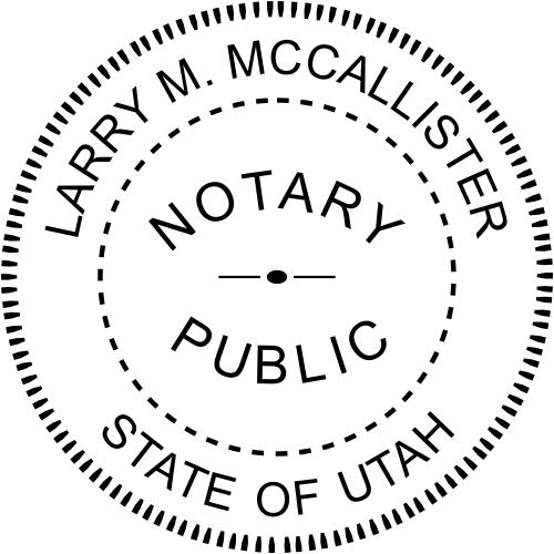 Utah Notary Round Imprint