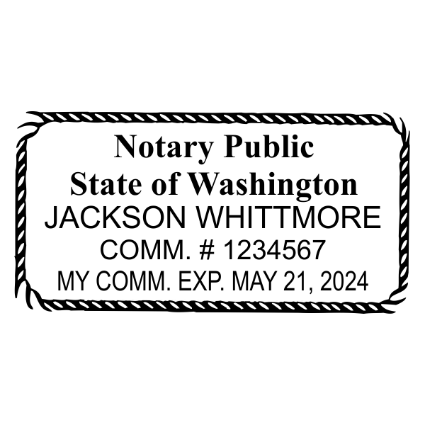 Washington State Notary Rectangle