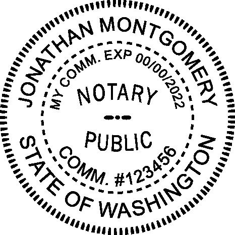 Washington State Notary Round Imprint