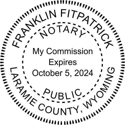 Wyoming Notary Round Imprint