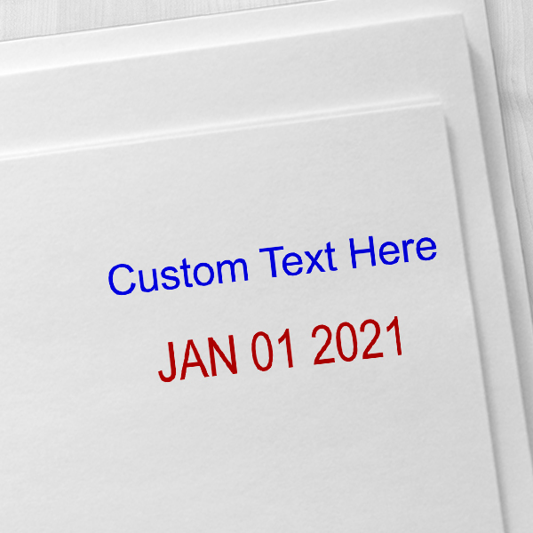 Top Line Custom Date Stamp Imprint Examples on Envelopes