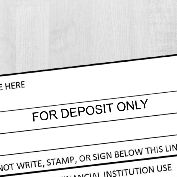 For Deposit Only Stamp Imprint Example