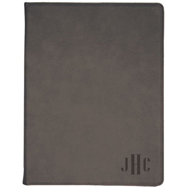 Monogram Leatherette Folio Small
