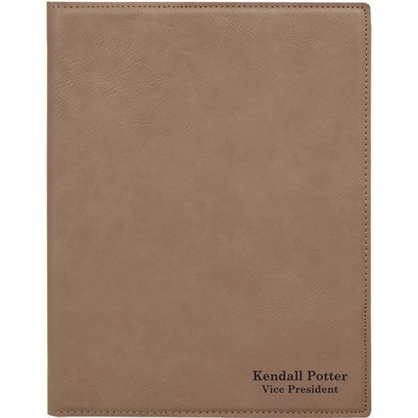 2 Line Custom Leatherette Folio Small