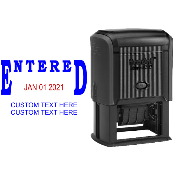 Entered Custom Date Stamp Body and Design