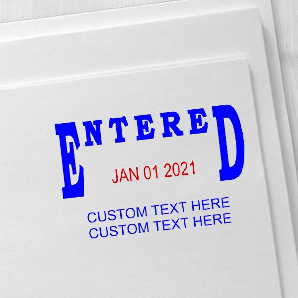 Entered Custom Date Stamp Imprint Example