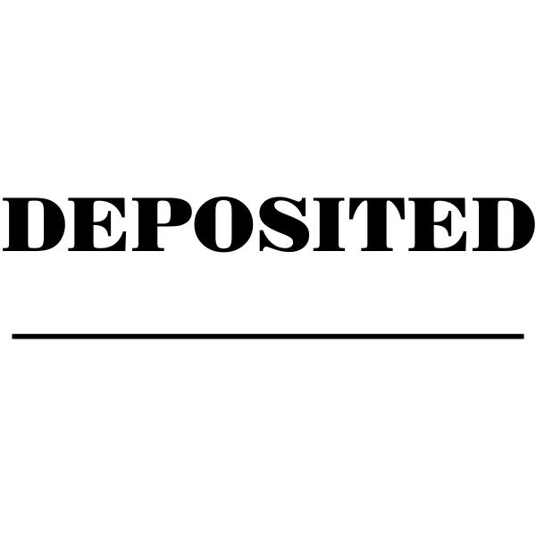 Deposited Dater Mobile Rubber Stamp