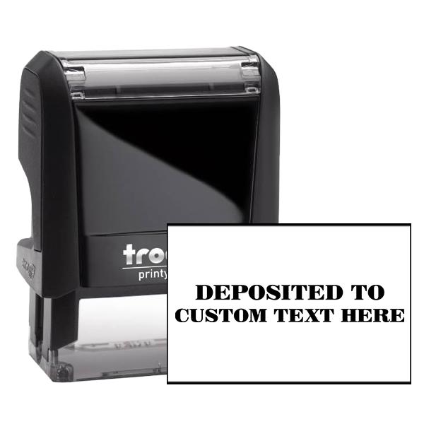 Custom DEPOSITED TO Mobile Check Deposit Rubber Stamp