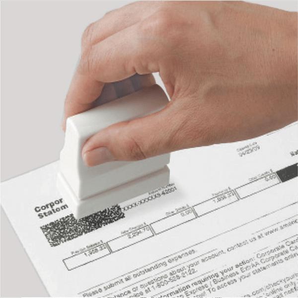 Xstamper Secure Stamper Small Imprint Example