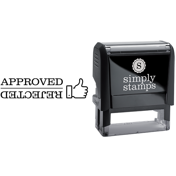 Multi Use Approved and Rejected Business Stamp