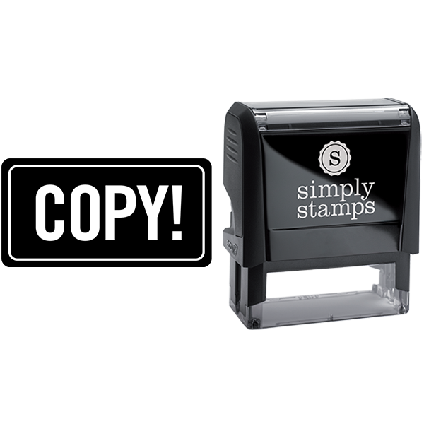Rounded Rectangle Copy Business Stamp