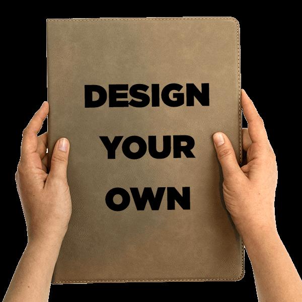 Create Your Own Leatherette Portfolio   Large