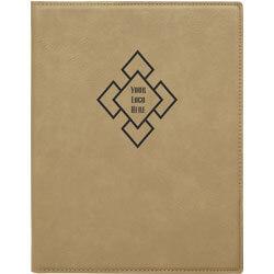 Custom Logo Leatherette Folio