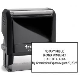 Alaska Notary Rectangle Stamp